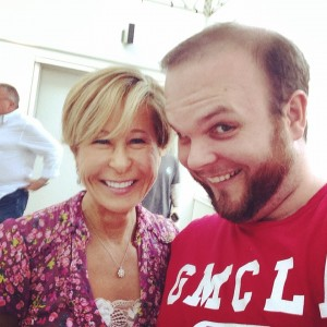 Me and Yeardley Smith